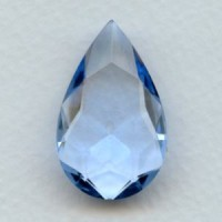 Light Sapphire Glass Pear Unfoiled Stone 32x20mm
