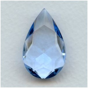 ^Light Sapphire Glass Pear Unfoiled Stone 32x20mm (1)