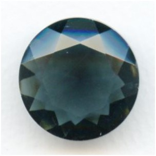 ^Montana Blue Glass Round 25mm Unfoiled Jewelry Stone (1)