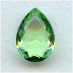 ^Peridot Pear Shape Glass Jewelry Stone 18x13mm
