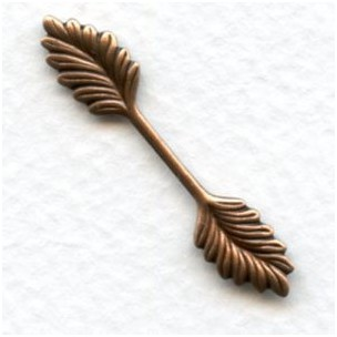 Double Leaf Bail Stamping Oxidized Copper 35mm (12)