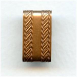^Patterned Wide Link Connectors Oxidized Copper (3)