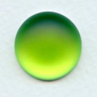 Lunasoft Lime 18mm Cabochons (2)