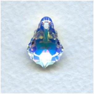 ^Swarovski Baroque Crystal AB Pendant 16x11mm