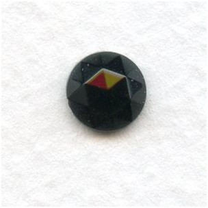 Jet 7mm Flat Back Faceted Top (6)