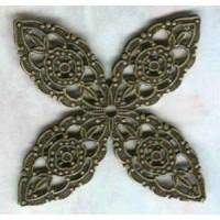 Setting Filigree Splendid Details Oxidized Brass ^