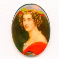 Vintage Gallery Image in Red 40x30mm Cabochon
