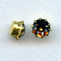^Tiffany Set Swarovski Black Diamond Raw Brass 35SS (6)