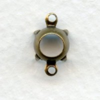 Round Setting Connectors 35ss Oxidized Brass