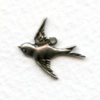 Flying West Bird Pendants Oxidized Silver (12)