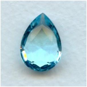 Aquamarine Glass Pear Shape Jewelry Stone 18x13mm (1)