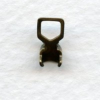 "End Clamps with Loops for 24pp ""B"" Chain Brass (24)"