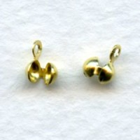 Clam Shell Ends Raw Brass Knot Covers