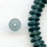 Matte Glass Spacer Beads 6x2mm Montana Blue