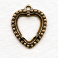 Heart Pendant Settings 11x12mm Oxidized Copper Plated