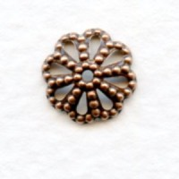 Filigree Bead Caps 9mm Oxidized Copper (50)