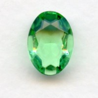Peridot Glass Oval Unfoiled Stones 14x10mm