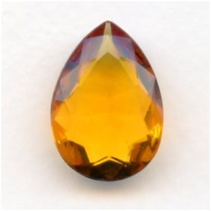 Topaz Glass Pear Unfoiled Jewelry Stone 25x18mm
