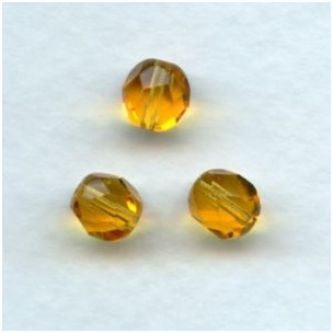 Topaz Fire Polished Round Faceted Beads 8mm