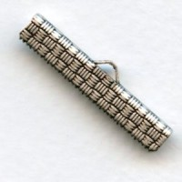 Textured Choker Clamps Oxidized Silver 32mm