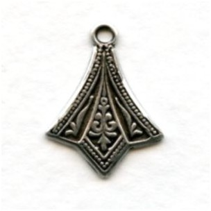 Add a Loop Pendant Stamping Oxidized Silver (12)