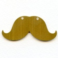 Steampunk Mustache Raw Brass 56mm (3)
