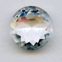 Crystal Clear Glass Round 25mm Unfoiled Jewelry Stone (1)