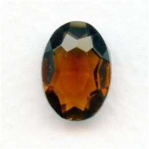 Smoked Topaz Glass Oval Unfoiled Jewelry Stones 14x10mm
