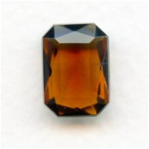 Smoked Topaz Glass Octagon Jewelry Stones 14x10mm