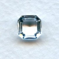 Crystal Glass Square Octagon Stones 8x8mm