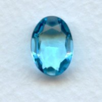 Aquamarine Oval Glass Unfoiled Stones 14x10mm