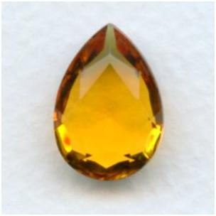 Topaz Pear Shape Glass Jewelry Stone 18x13mm