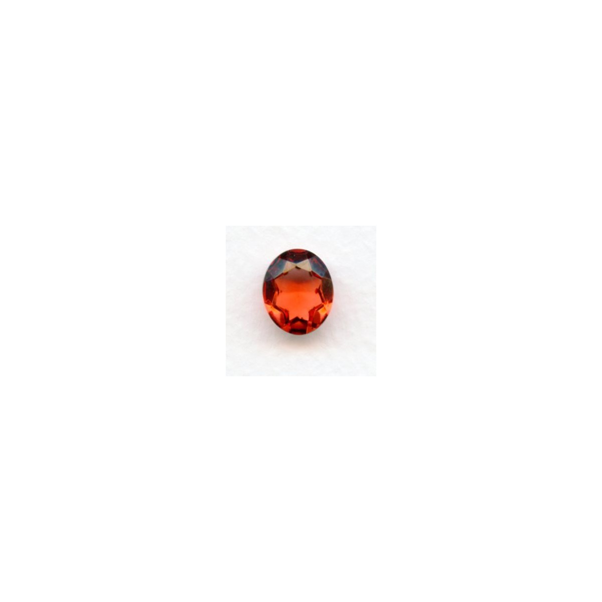 Rose Glass Oval Unfoiled Jewelry Stones 12x10mm