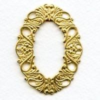 Dramatic Framework Piece Raw Brass Stamping