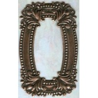 Scrollwork Frame Stamping Oxidized Copper 76mm