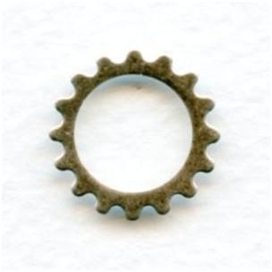 Steampunk Cogs Oxidized Silver 16mm