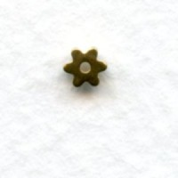 Star Wheel Spacer Beads Raw Brass 3mm (24)
