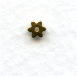 Star Wheel Spacer Beads Raw Brass 3mm (24)