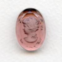 Lt. Amethyst Etched Crystal Portrait Intaglio 25x18mm (1)