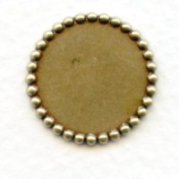 Beaded Edge 15mm Setting Bases Oxidized Brass (6)