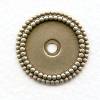 Double Beaded Edge Settings 18mm Oxidized Silver (6)