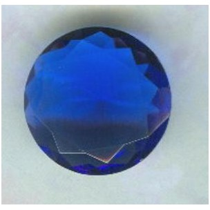^Sapphire Glass Round 18mm Unfoiled Jewelry Stone