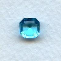 Aquamarine Glass Square Octagon Stones 8x8mm