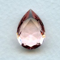 Rose Pink Glass Pear Shape Jewelry Stone 18x13mm