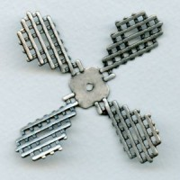 Steampunk Propellor Oxidized Silver (1)