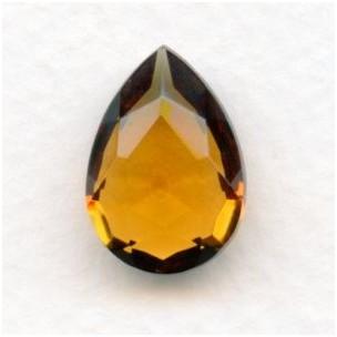 Smoked Topaz Glass Pear Shape Jewelry Stone 18x13mm