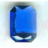 ^Sapphire Glass Octagon Unfoiled Jewelry Stones 14x10mm