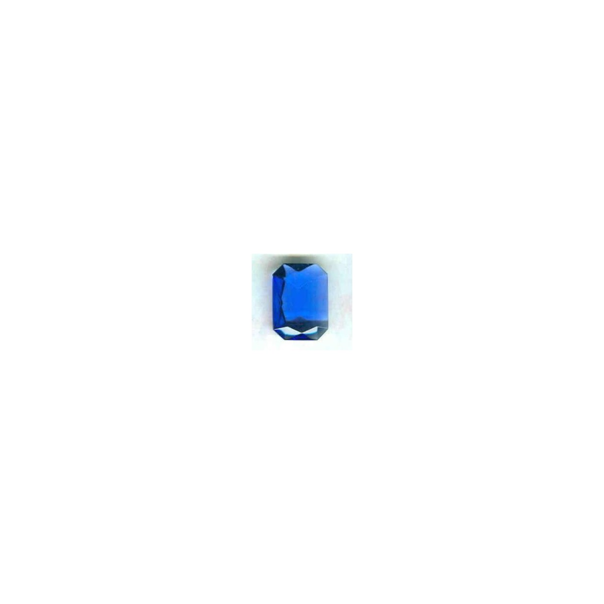 Sapphire Glass Octagon Unfoiled Jewelry Stones 12x10mm