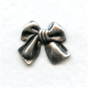 Angel Bows Oxidized Silver 15mm
