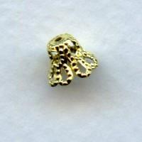 ^Bell Shape Filigree Bead Caps Raw Brass 7mm (50)